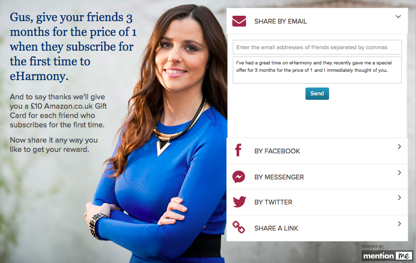 eHarmony referral scheme screenshot