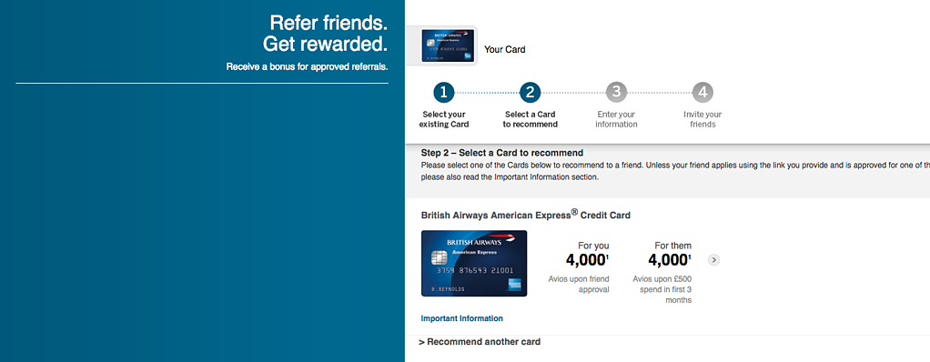BA Credit Card Referral Program
