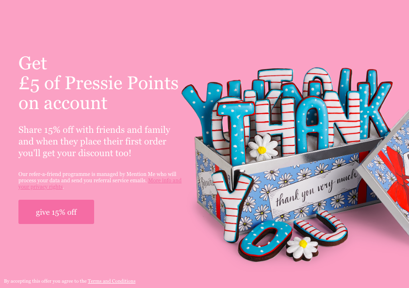 Biscuiteers referral programme