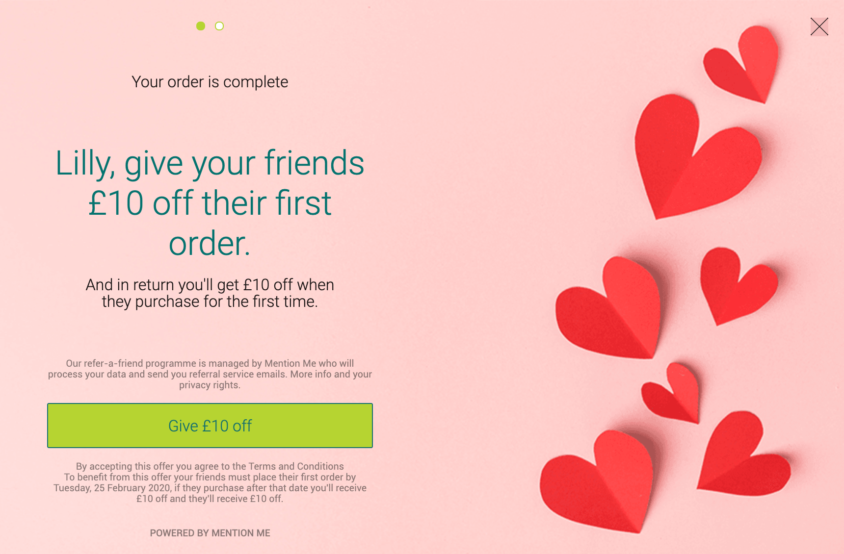 Cytoplan referral programme Valentines