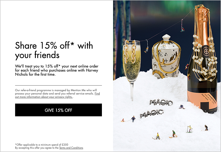 Harvey Nichols referral programme-1