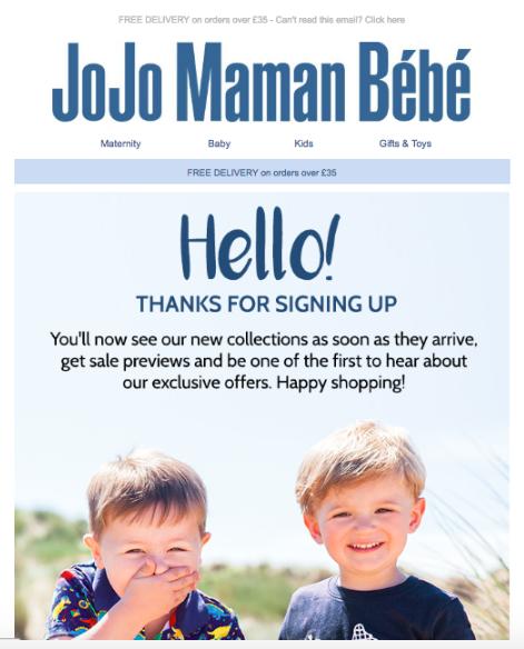 JoJo Maman Bebe email creative