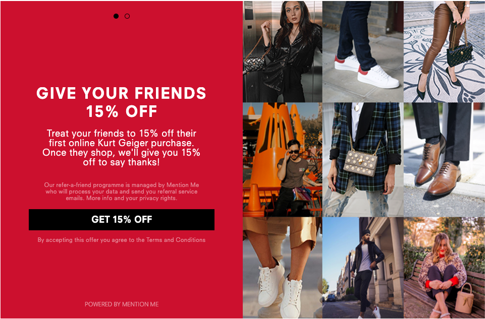 Kurt Geiger referral programme
