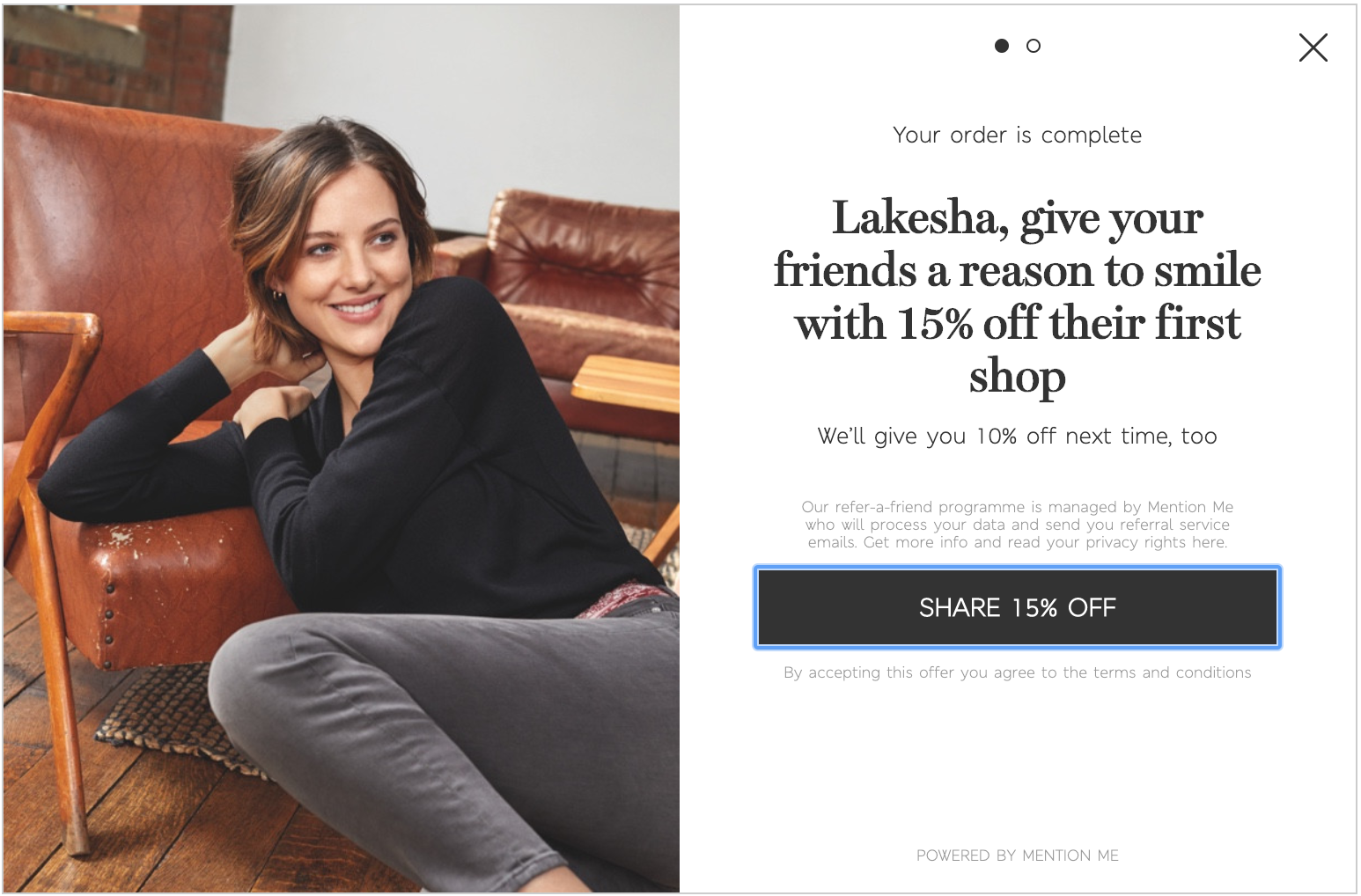 Marks & Spencer refer-a-friend campaign