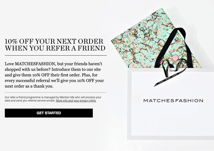 MatchesFashion referral programme