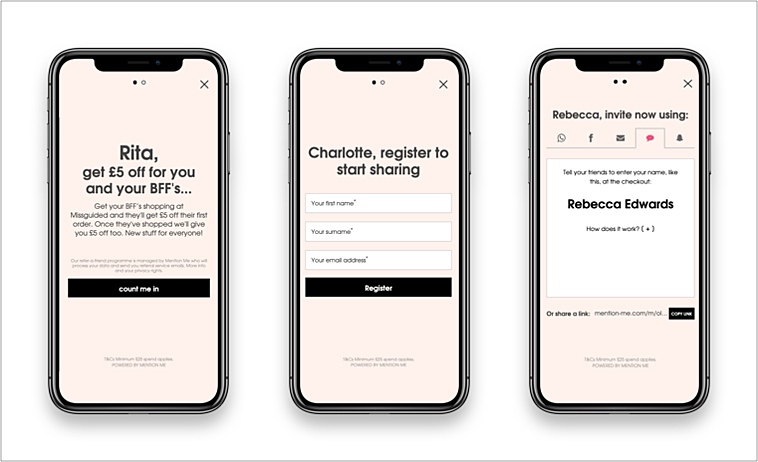 Missguided mobile referral programme