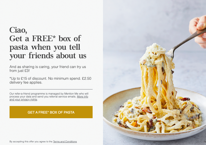 Pasta Evangelists referral programme