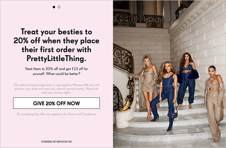 PrettyLittleThing referral programme1