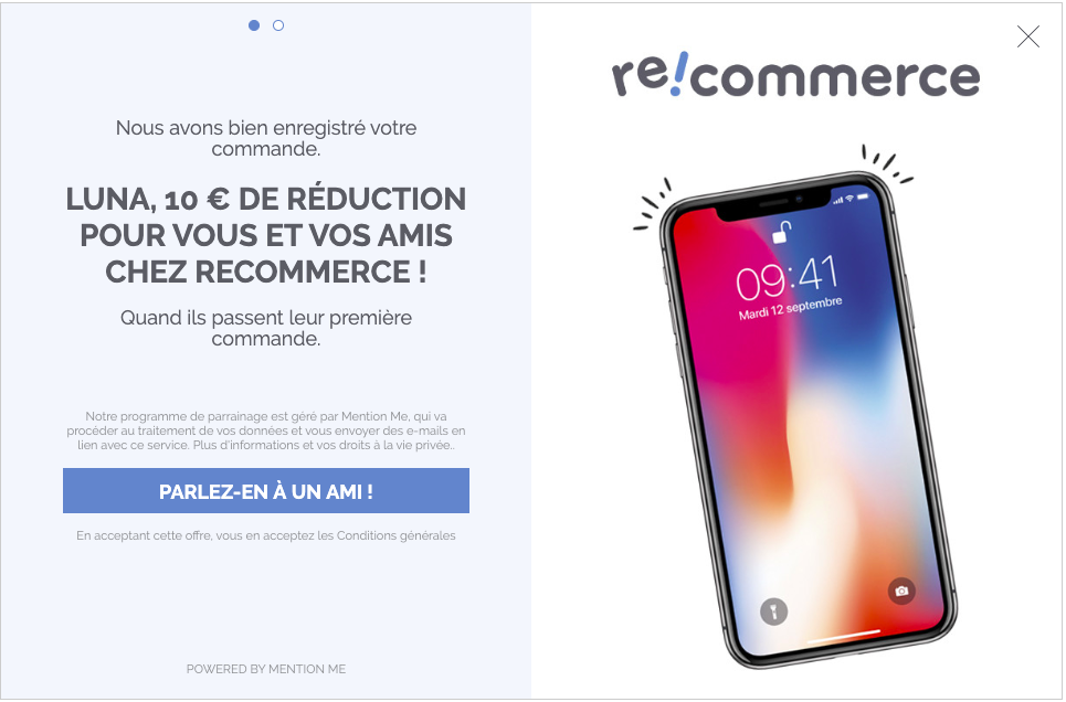 Recommerce referral programme