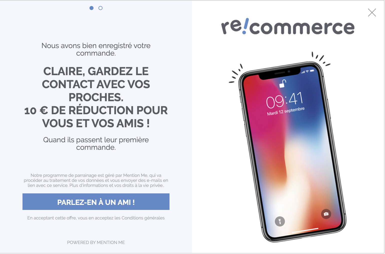 Recommerce refer-a-friend campaign