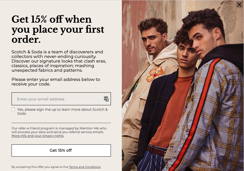 Scotch & Soda referral programme