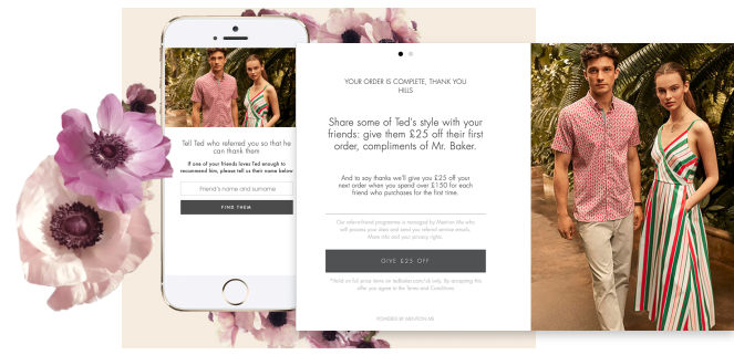 Ted Baker referral marketing programme
