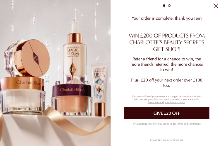 Charlotte Tilbury Referral Competition