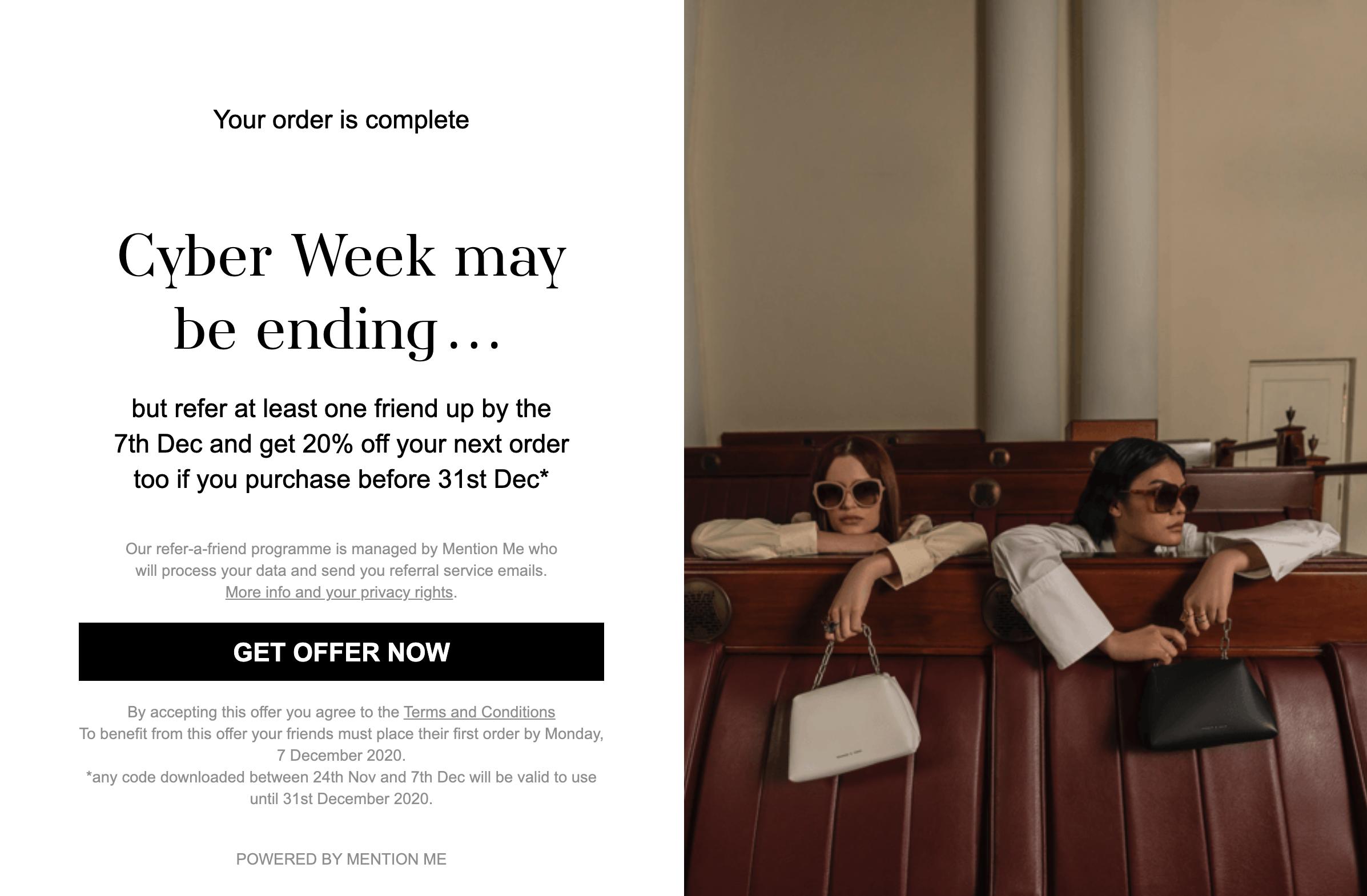 Charles & Keith Cyber Week Message