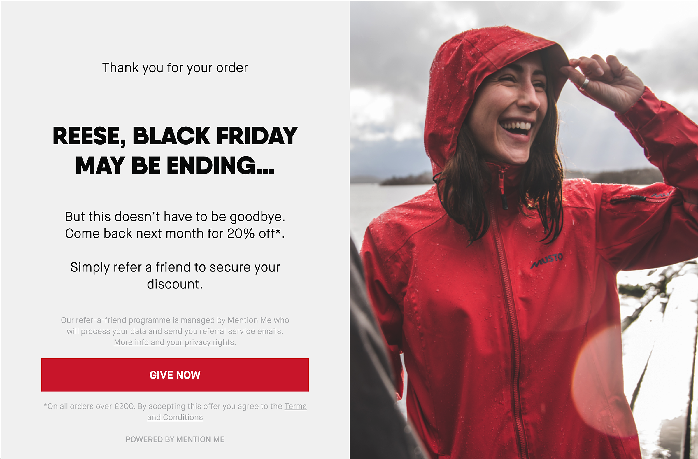 Musto Black Friday Referral Discount