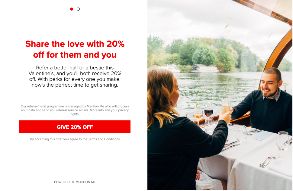 Virgin Experience Days Valentines campaign