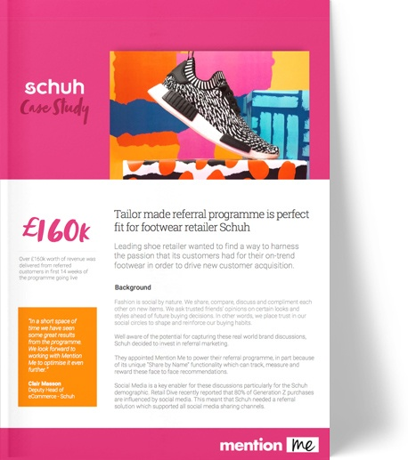Schuh refer-a-friend case study