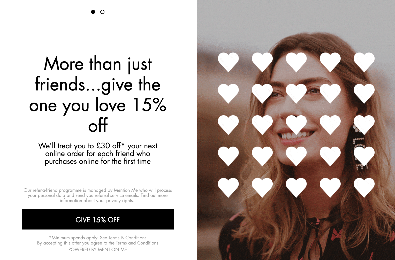 Harvey Nichols refer a friend Valentine's campaign