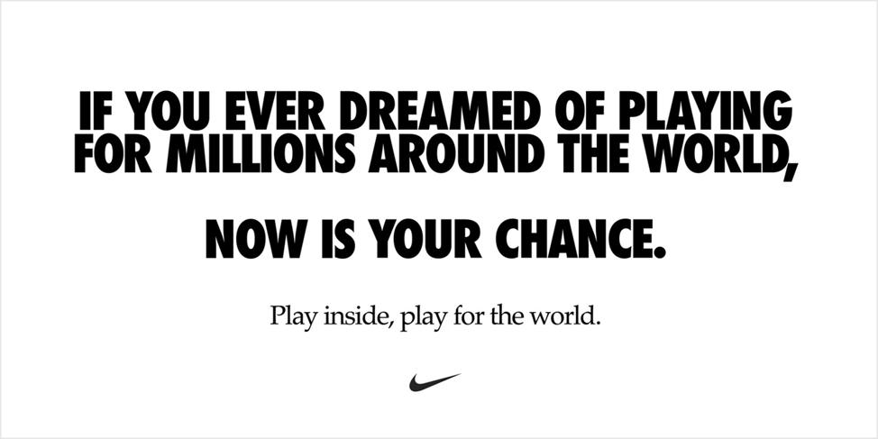 Nike Coronavirus campaign